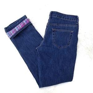 Bit & Bridle flannel lined straight leg jeans 4
